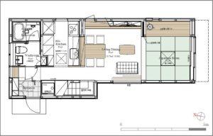 AkatukiHouse親世帯1階平面図