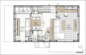 AkatukiHouse一階平面図