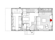 蓄熱式床暖房採用住宅の間取り
