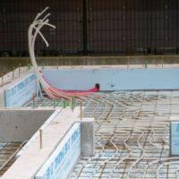 蓄熱式床暖房の配管