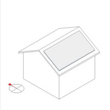切妻屋根の太陽光発電シュミレーション