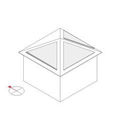 寄せ棟屋根の太陽光発電シュミレーション