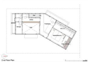 Hokuou House 2階平面図