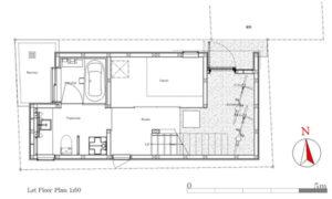 9坪ハウス1階平面図