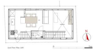 9坪ハウス2階平面図