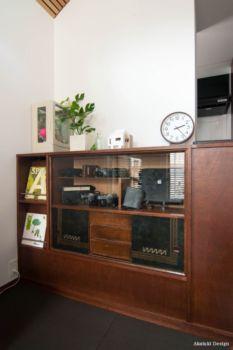 手持ち家具を造り付け家具に組み込んだ例