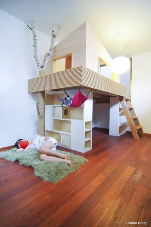 キャットハウスと子供