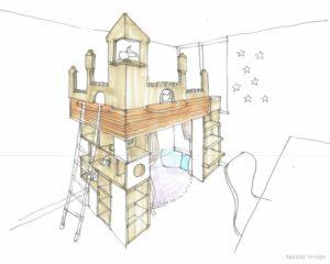 猫の為の家造りスケッチ