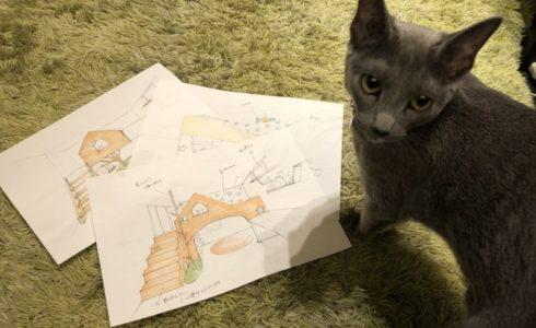 スケッチと猫