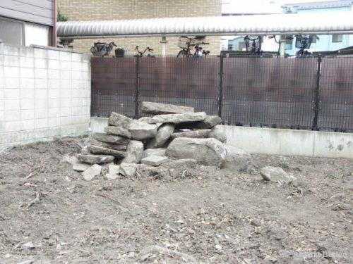 再利用する庭石