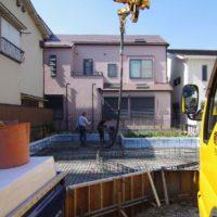 木漏れ日の家基礎コンクリート工事