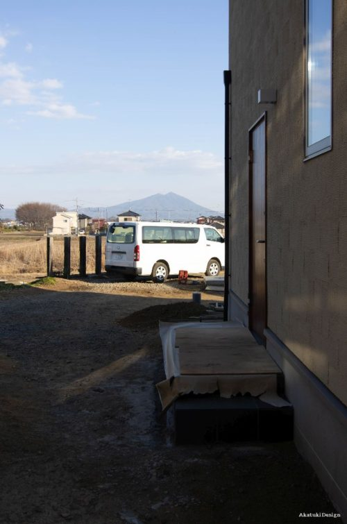 筑波山を眺めるアプローチ