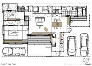 ゆとりの家1階平面図