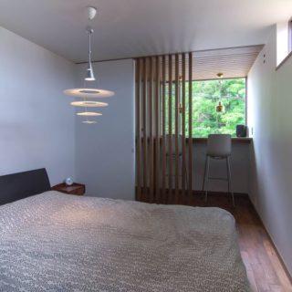寝室の借景