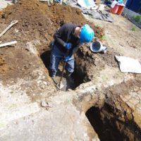 木漏れ日の水道本管引き込み工事