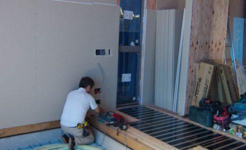 木漏れ日の家床暖房工事